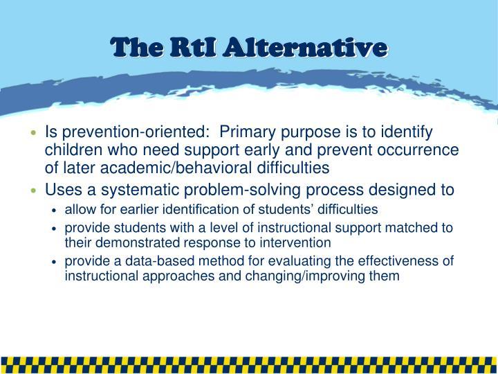 The RtI Alternative