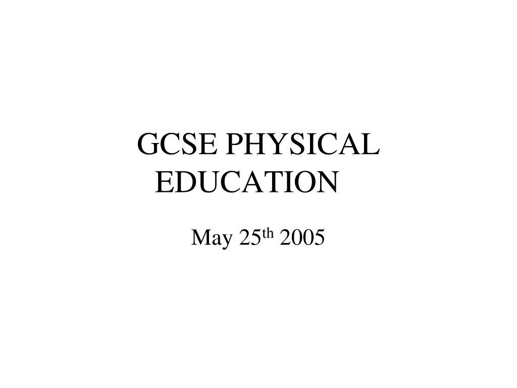 gcse physical education l.