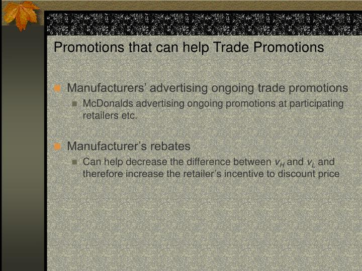 Promotions that can help Trade Promotions