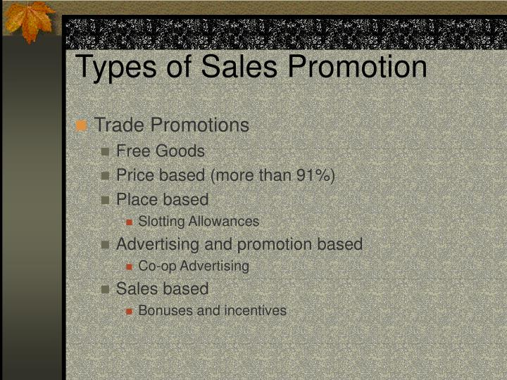 Types of sales promotion1