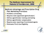 the medicare improvement for patients providers act 20084