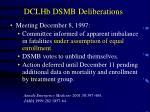 dclhb dsmb deliberations