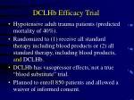 dclhb efficacy trial