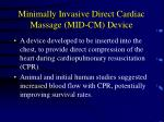 minimally invasive direct cardiac massage mid cm device