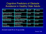 cognitive predictors of obstacle avoidance in healthy older adults