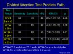 divided attention test predicts falls