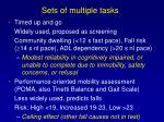 sets of multiple tasks
