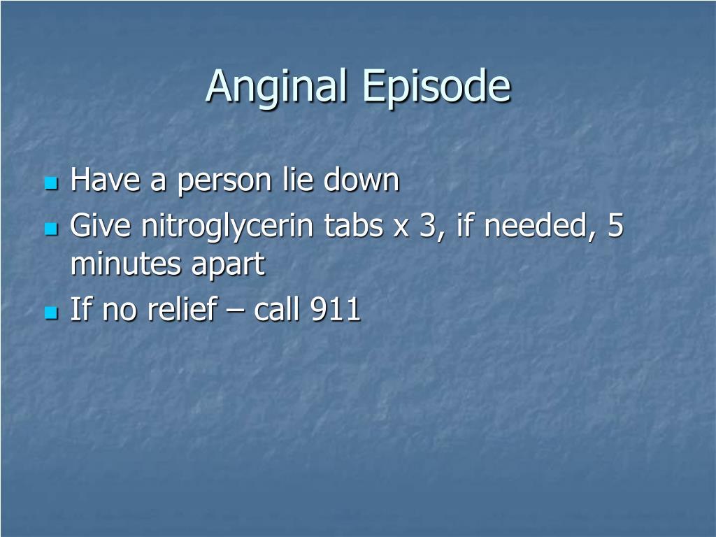 Anginal Episode