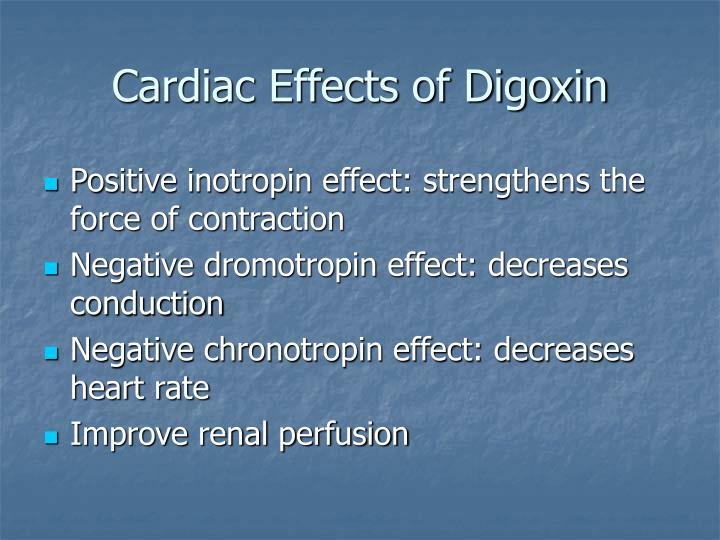 Cardiac effects of digoxin