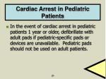 cardiac arrest in pediatric patients