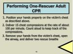 performing one rescuer adult cpr