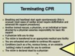 terminating cpr