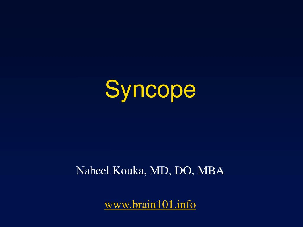 syncope l.
