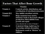 factors that affect bone growth2