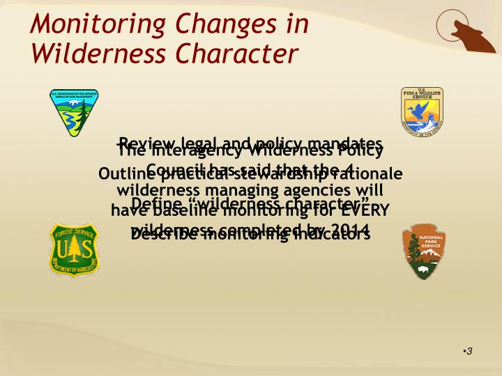 Monitoring Changes in