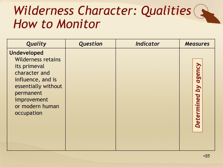 Wilderness Character: Qualities