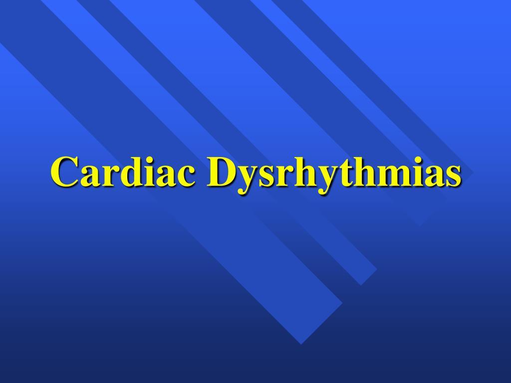 cardiac dysrhythmias l.