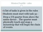 mission possible rules