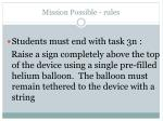 mission possible rules13