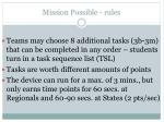 mission possible rules14