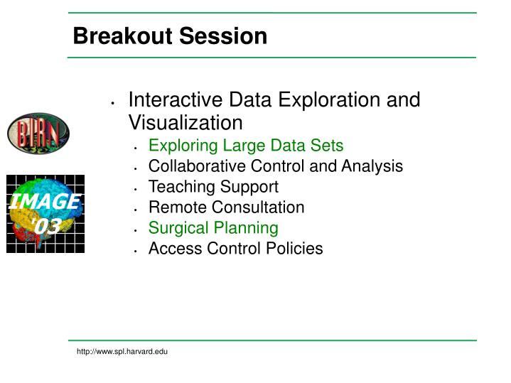 breakout session n.