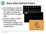 query atlas interface project
