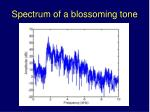 spectrum of a blossoming tone