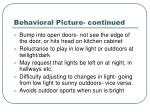behavioral picture continued1