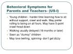 behavioral symptoms for parents and teachers us l