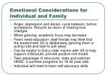 emotional considerations for individual and family1