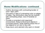 home modifications continued