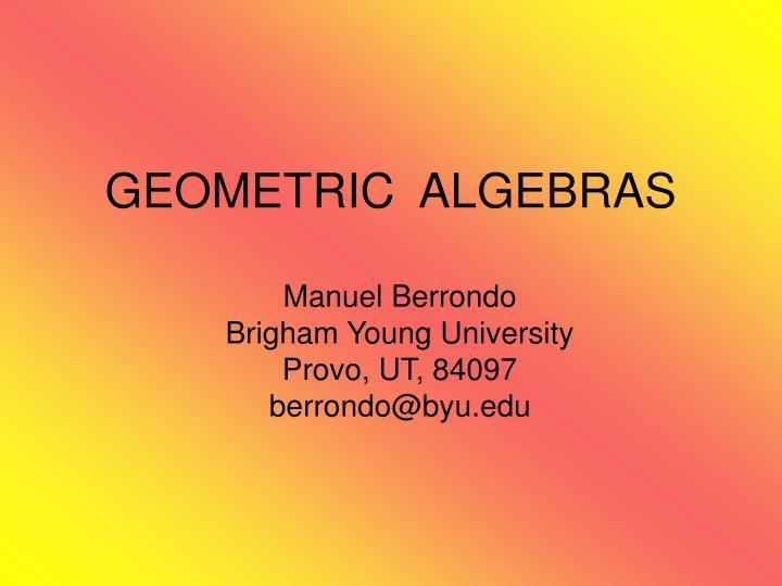 geometric algebras n.