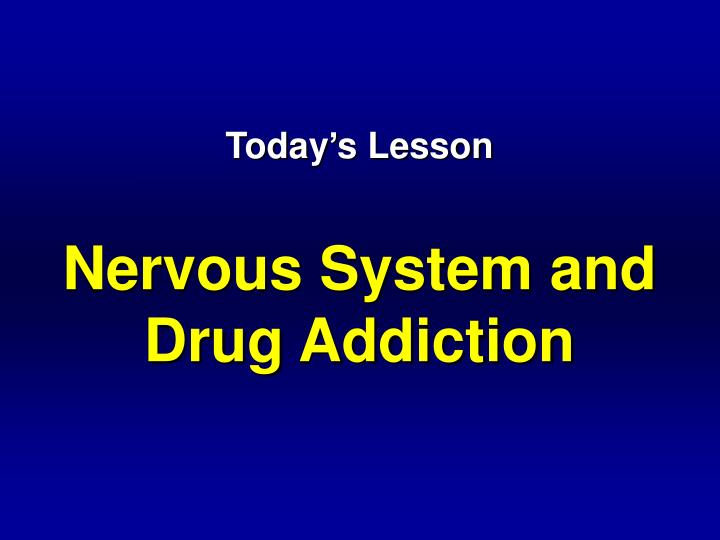 today s lesson nervous system and drug addiction n.