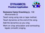 dynamics practical application10