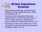 ministry expectations dynamics4