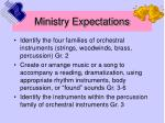 ministry expectations14