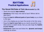 rhythm practical applications