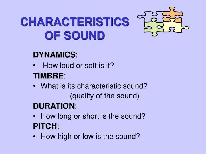 Characteristics of sound2