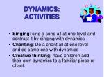 dynamics activities