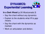 dynamics experiential learning