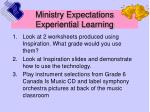ministry expectations experiential learning25
