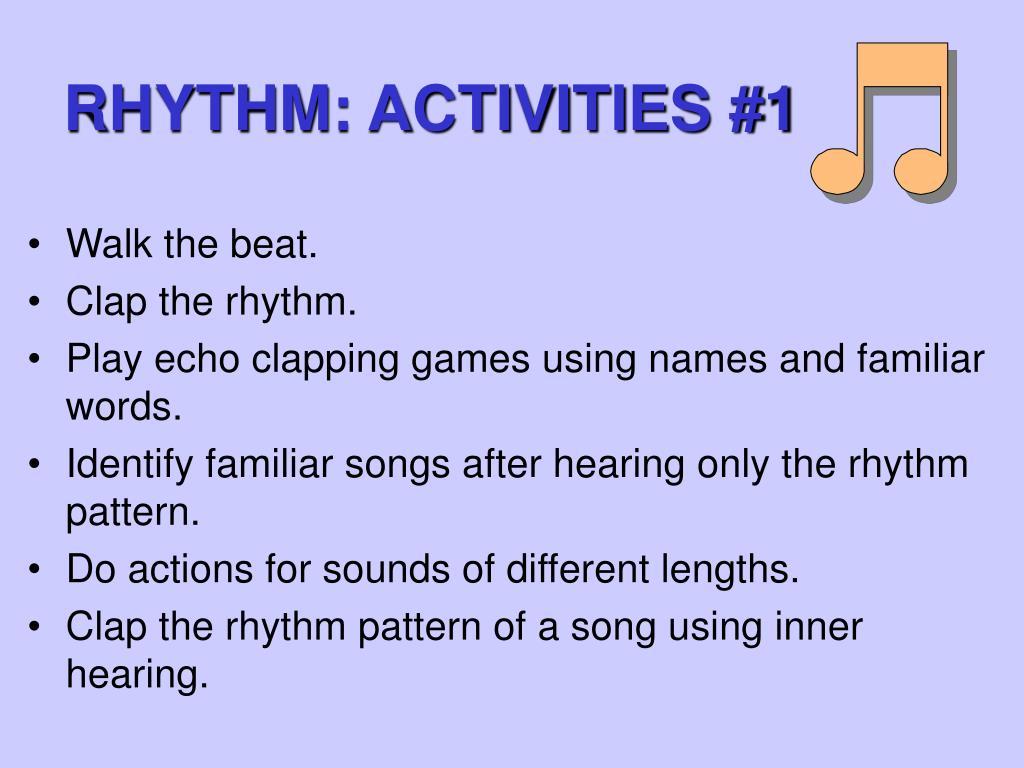 RHYTHM: ACTIVITIES #1
