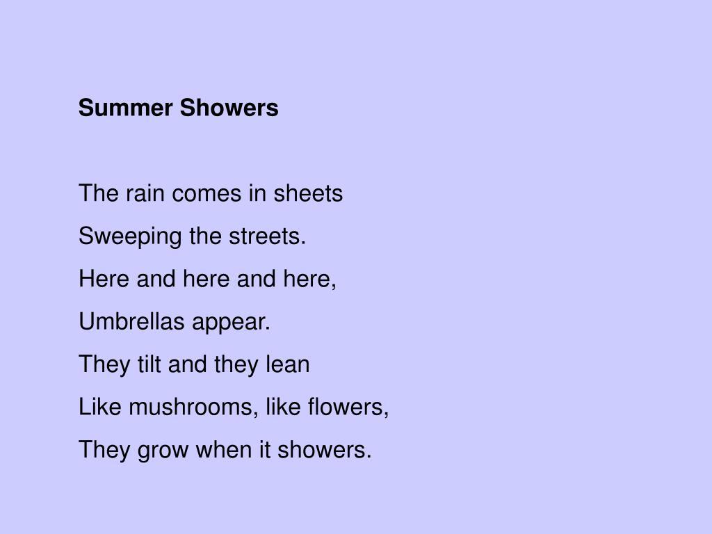 Summer Showers