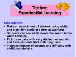 timbre experiential learning