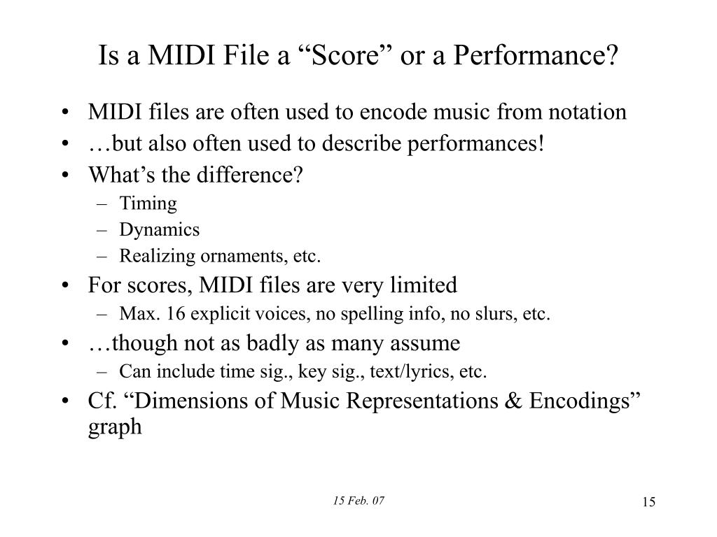 PPT - Representation of Musical Information PowerPoint