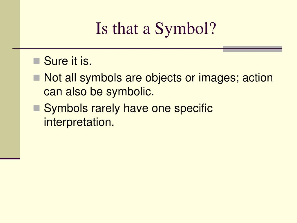 Is that a Symbol?