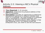 activity 2 3 viewing a nic s physical address