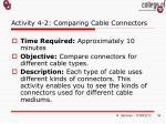 activity 4 2 comparing cable connectors