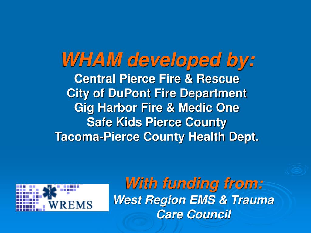 WHAM developed by: