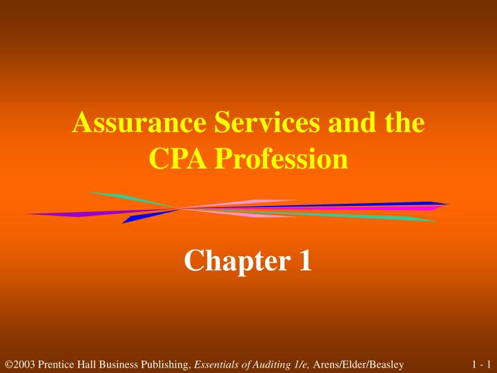 assurance services and the cpa profession n.